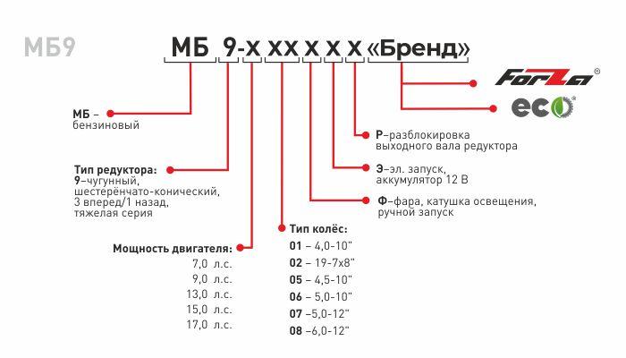 """Мотоблок МБ9 """"FORZA"""""""